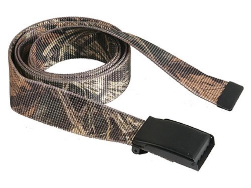 "The Outdoor Connection MaxBelt Belt 1-1/4"" Black Brass Buckle Nylon"