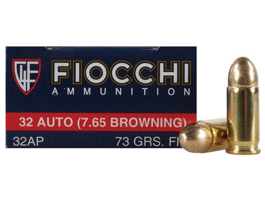 Fiocchi Shooting Dynamics Ammunition 32 ACP 73 Grain Full Metal Jacket Box of 50