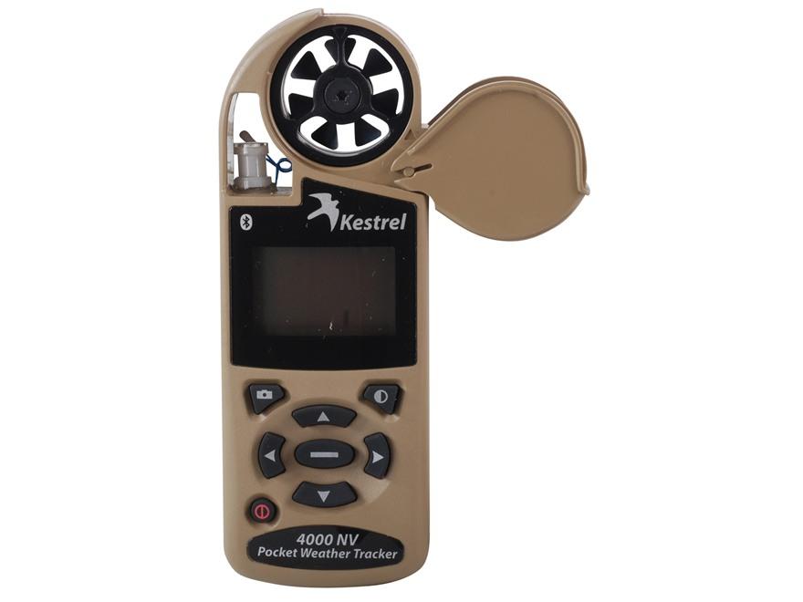 Kestrel 4000NV Electronic Hand Held Weather Meter with Bluetooth Desert Tan