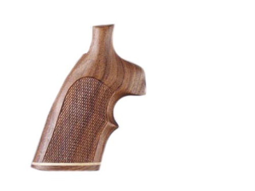 Hogue Fancy Hardwood Grips with Accent Stripe and Top Finger Groove Ruger Speed Six Checkered