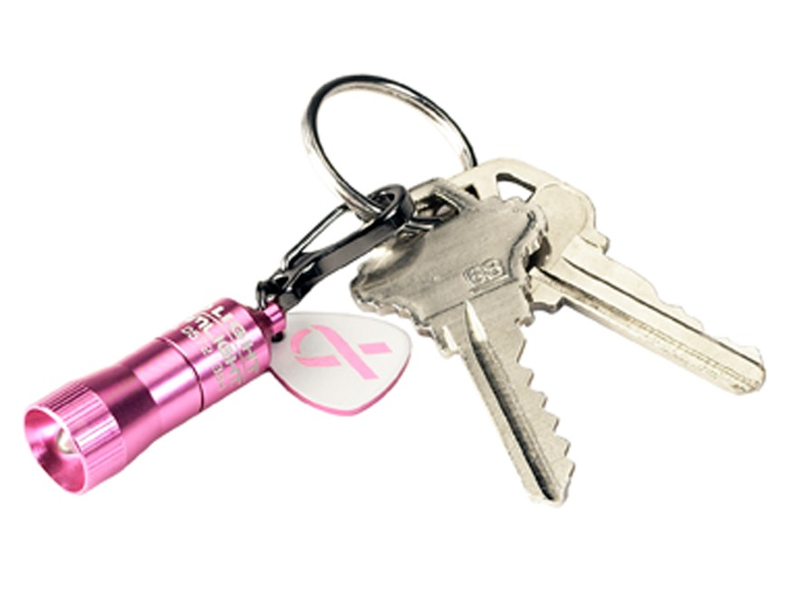 Streamlight Pink Nano Keychain Flashlight LED with 4 Button Batteries Aluminum Pink