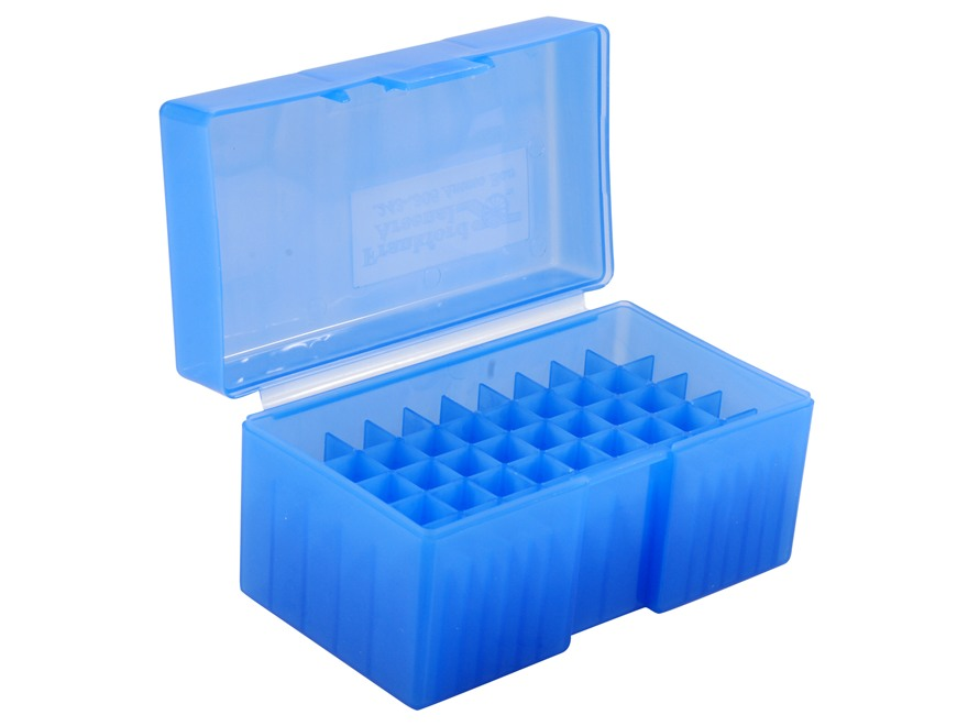 Frankford Arsenal Flip-Top Ammo Box #509 22-250 Remington, 243 Winchester, 308 Winchester 50-Round Plastic Blue Box of 10