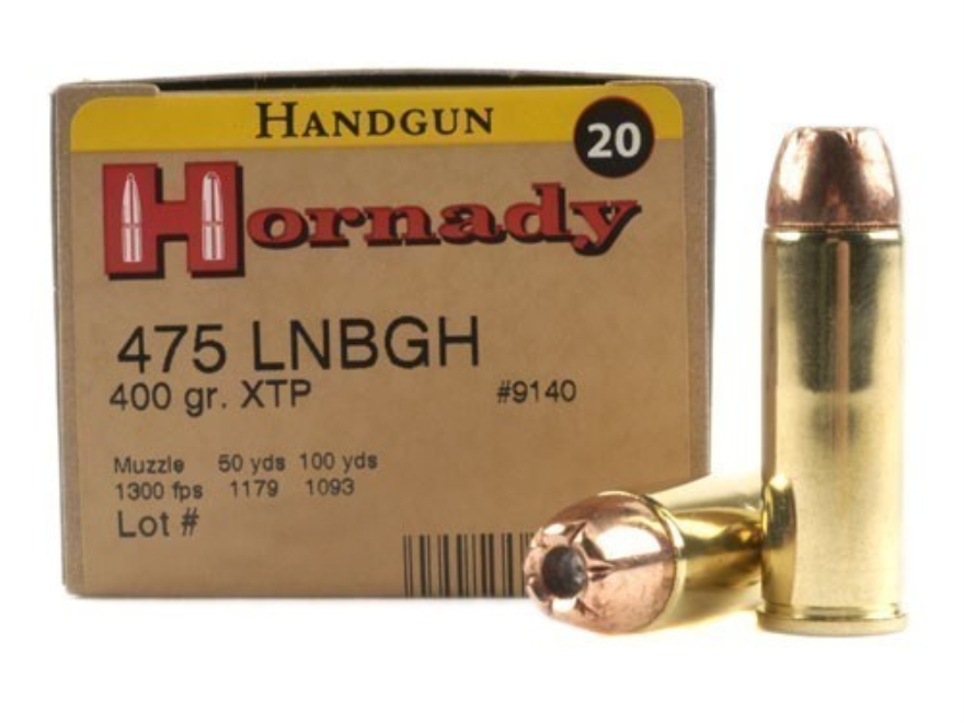 Hornady Custom Ammunition 475 Linebaugh 400 Grain XTP Jacketed Hollow Point Box of 20