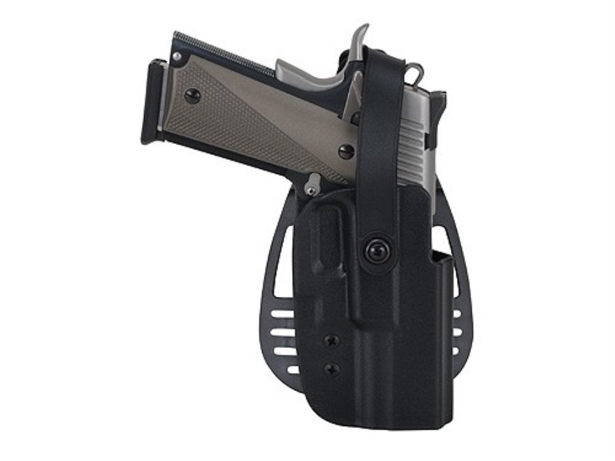 Uncle Mike's Paddle Holster with Thumb Break Right Hand Beretta 92, 96 (Except Brigadier, Elite) Kydex Black