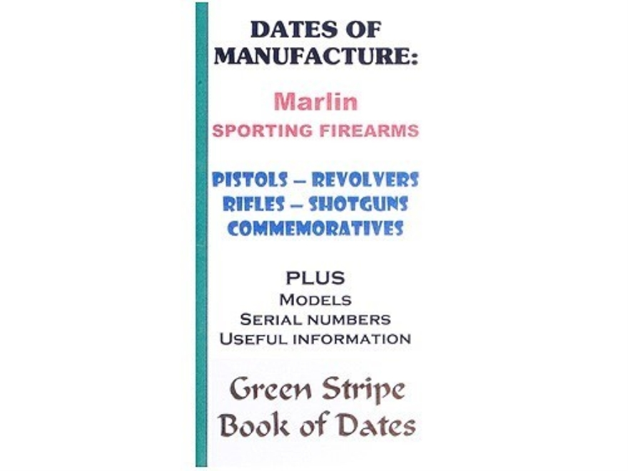 "Green Stripe Data Books ""Marlin"" Book by Firing Pin Enterprises"