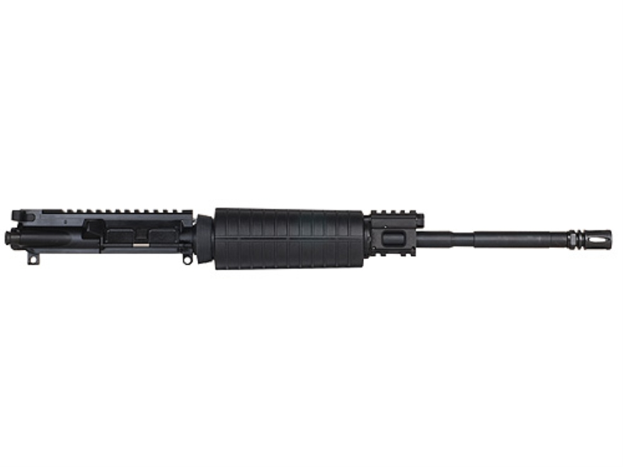 "CMMG AR-15 M4 LEP II A3 Flat-Top Gas Piston Upper Assembly 6.8mm Remington SPC II 1 in 11"" Twist 16"" Barrel Chrome Moly Matte with M4 Handguard, Flash Hider"