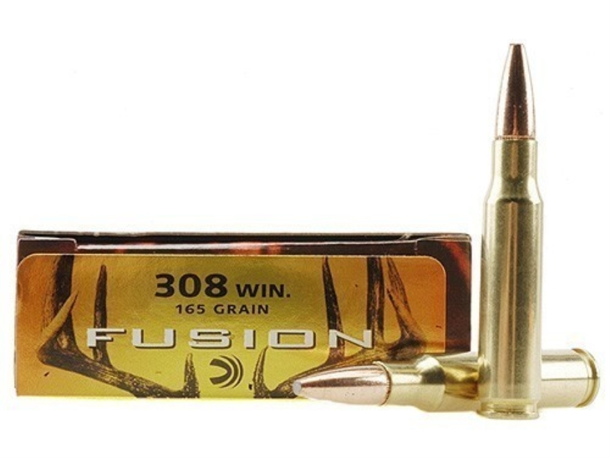 Federal Fusion Ammunition 308 Winchester 165 Grain Spitzer Boat Tail Box of 20