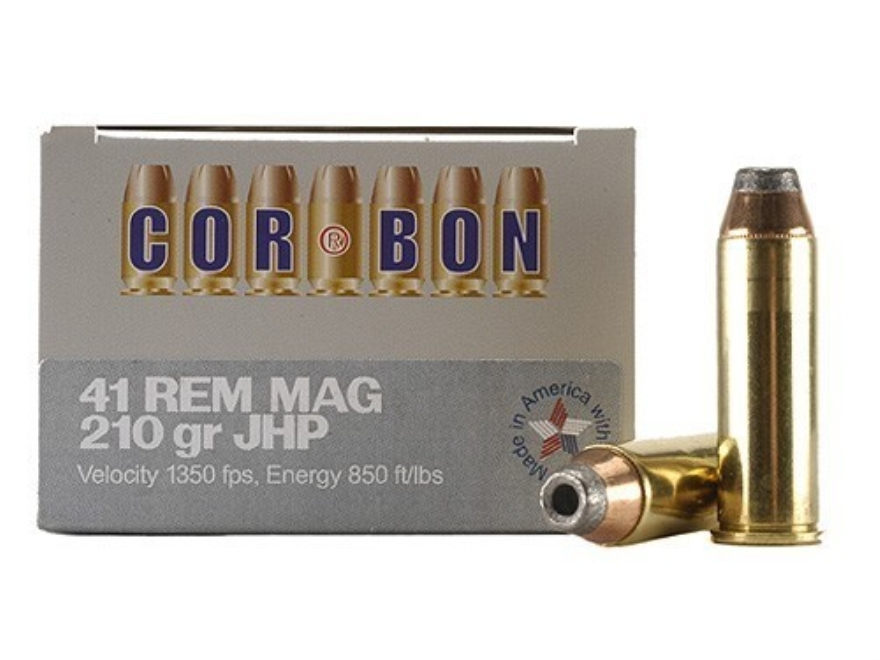 Cor-Bon Hunter Ammunition 41 Remington Magnum 210 Grain Jacketed Hollow Point Box of 20