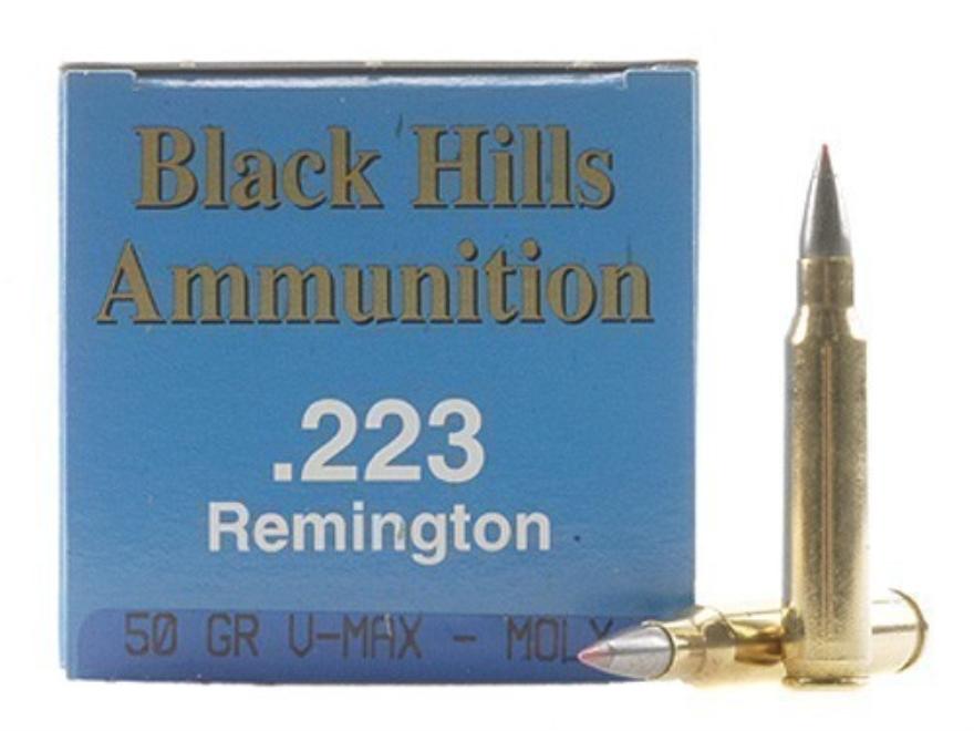 Black Hills Remanufactured Ammunition 223 Remington 50 Grain Hornady V-Max Box of 50
