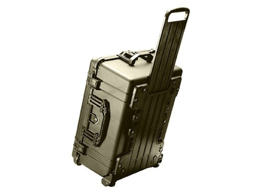 Pelican 1610 Accessories Case with Pre-Scored Foam Insert and Wheels Polymer