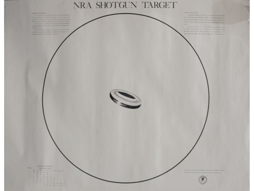 NRA Official Shotgun Patterning Targets ST-2 40 Yard Paper Package of 10
