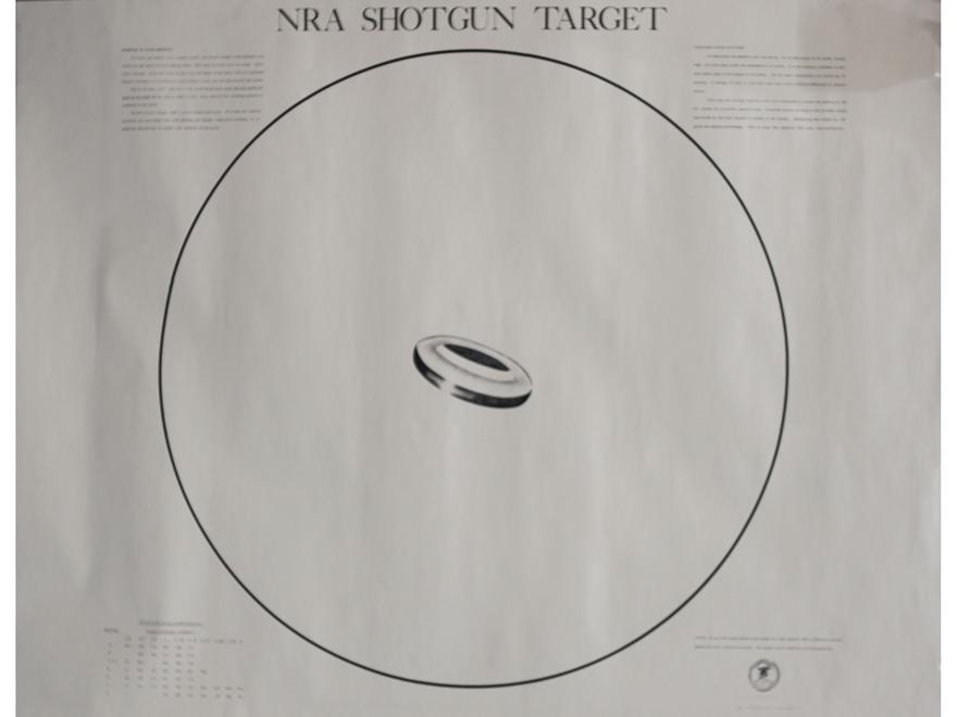 NRA Official Shotgun Patterning Targets ST-2 40 Yard Paper Package of 10
