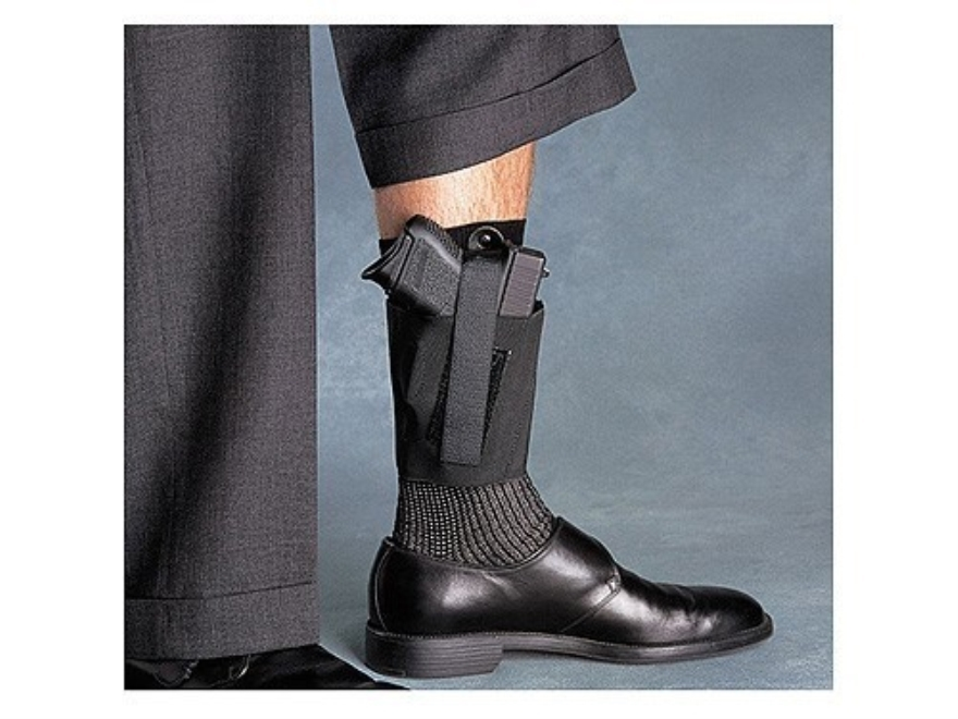 Galco COP Ankle Band Holster Right Hand Ruger LCP, Norht American Arms Guardian 380 Padded Elastic Black