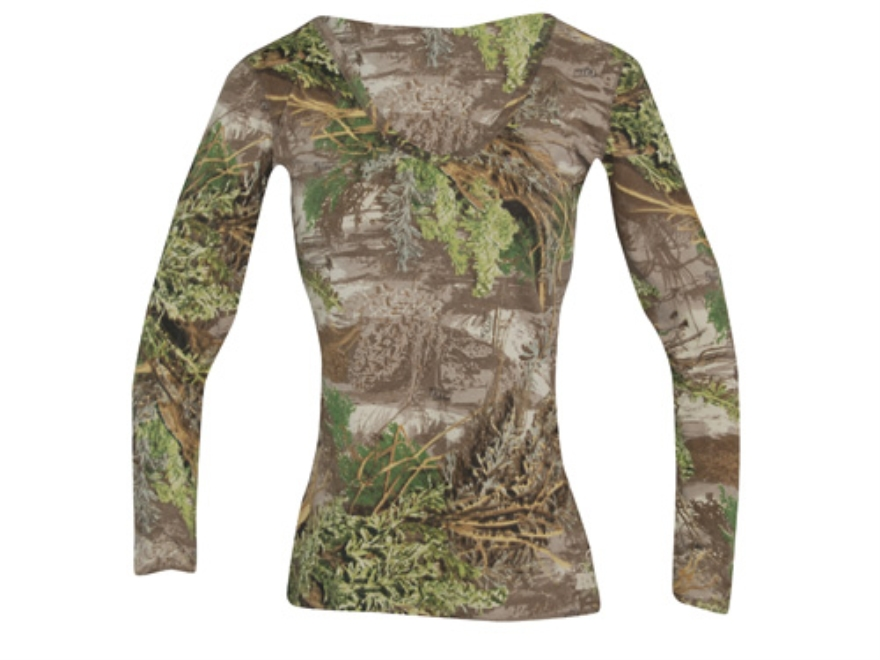 Realtree Girl Women's Spruce V-Neck T-Shirt Long Sleeve Cotton