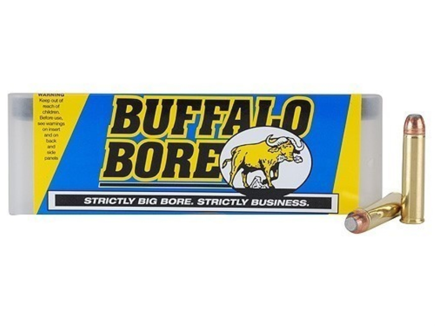 Buffalo Bore Ammunition 460 S&W Magnum 300 Grain Jacketed Flat Nose Box of 20