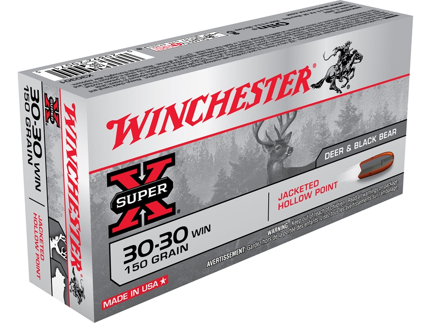 Winchester Super-X Ammunition 30-30 Winchester 150 Grain Hollow Point