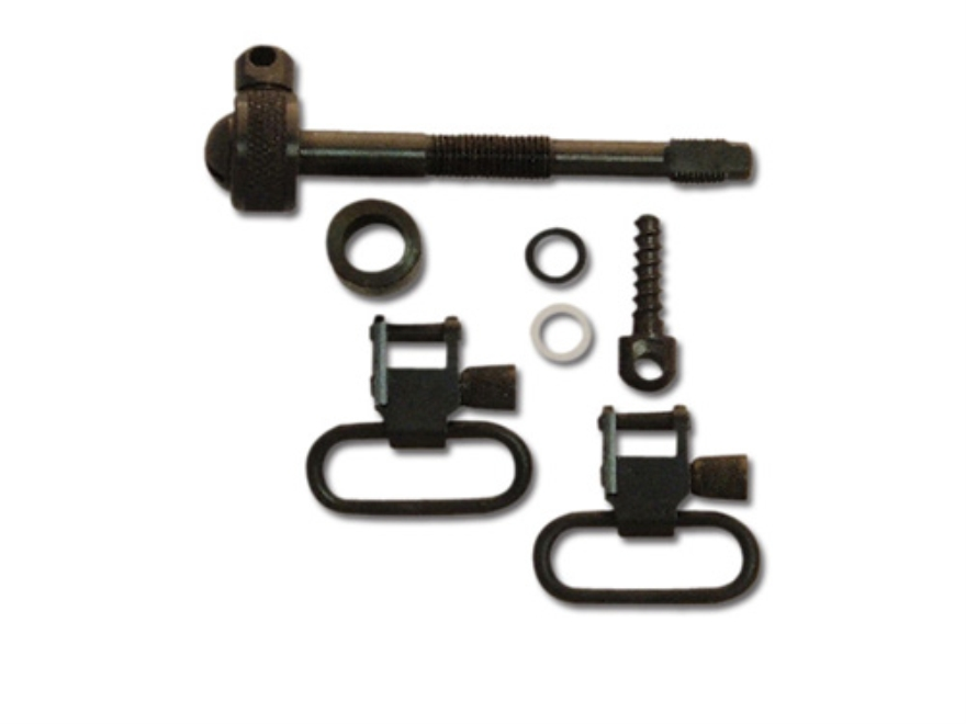 "GrovTec Sling Swivel Studs with 1"" Locking Swivels Set Remington 742 BDL Steel Black"