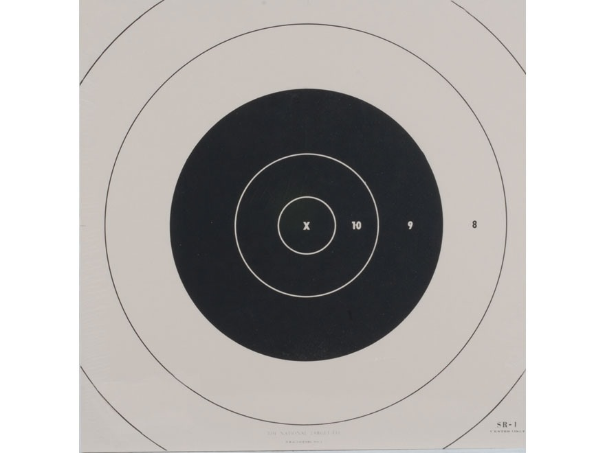 NRA Official High Power Rifle Targets Repair Center SR-1C 100 Yard Slow and Rapid Fire ...
