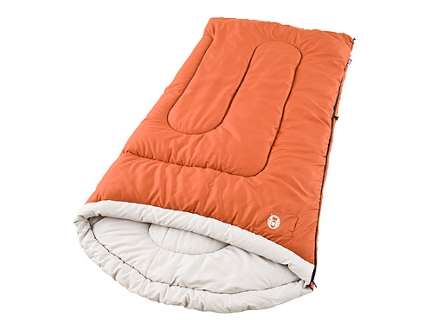 "Coleman Sabine 20-40 Degree Tall Sleeping Bag 39"" x 84"" Polyester Red"