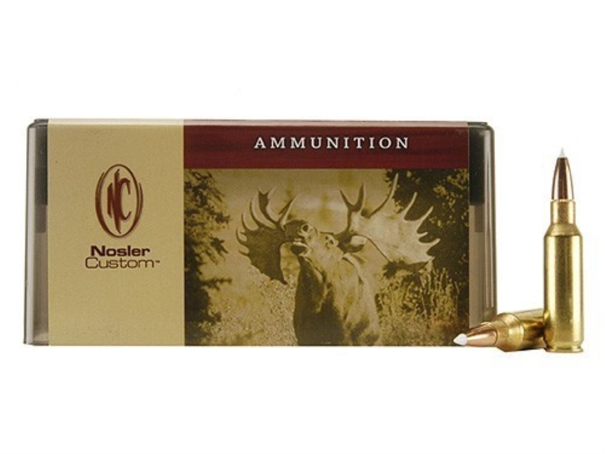 Nosler Custom Ammunition 300 Remington Short Action Ultra Magnum 180 Grain AccuBond Spitzer Box of 20