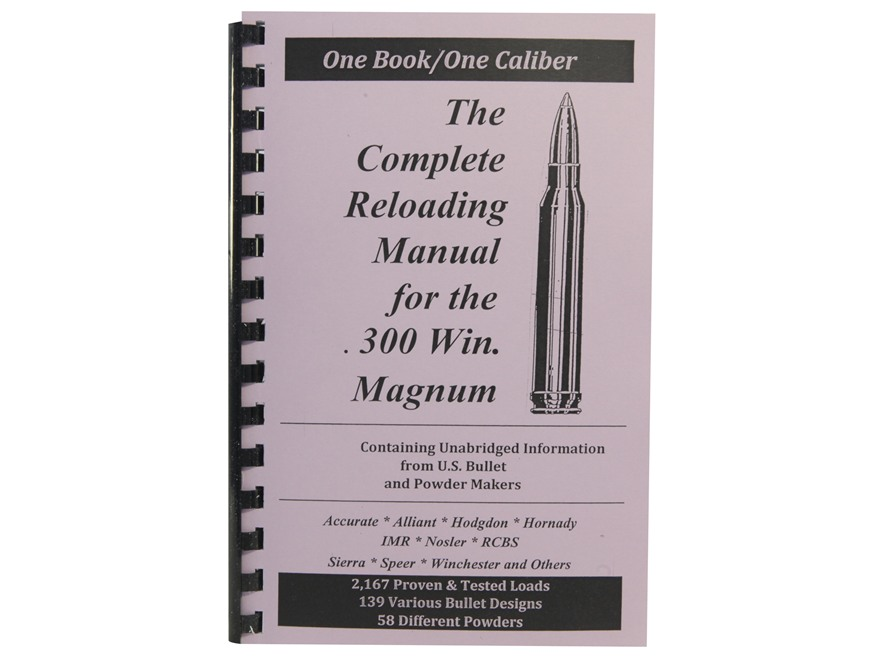 "Loadbooks USA ""300 Winchester Magnum"" Reloading Manual"