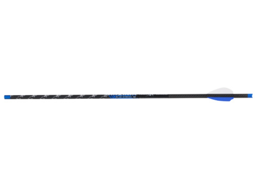 "Carbon Express Maxima Blue Streak 20"" Crossbow Bolt 2"" Blazer Vanes Lighted Half-Moon Nock Black Pack of 5"