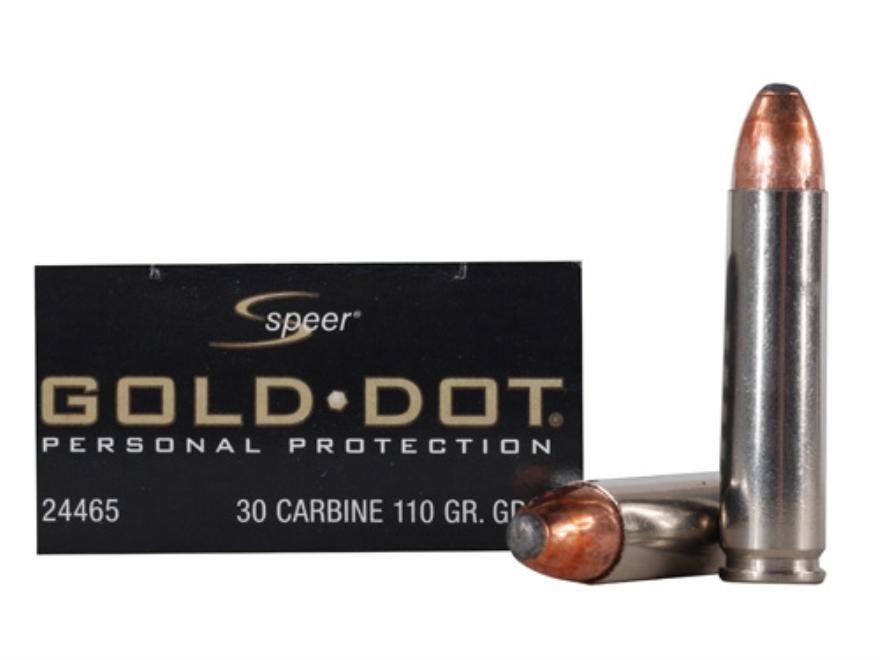 Speer Gold Dot Ammunition 30 Carbine 110 Grain Soft Point Box of 20