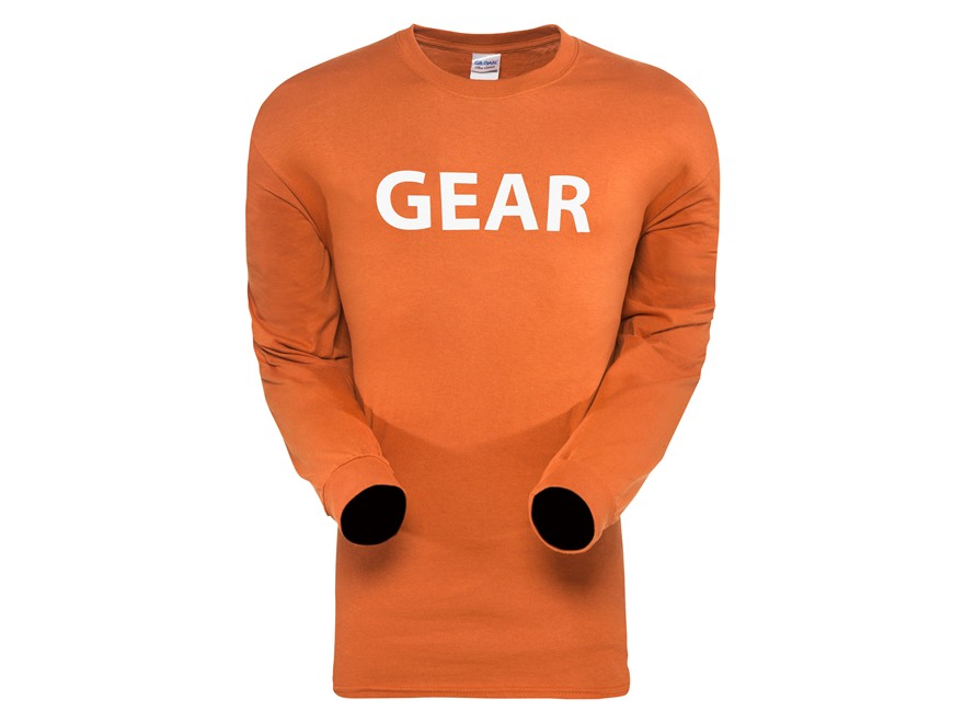 Sitka Men's Gear T-Shirt Long Sleeve Cotton Burnt Orange Large 42-45