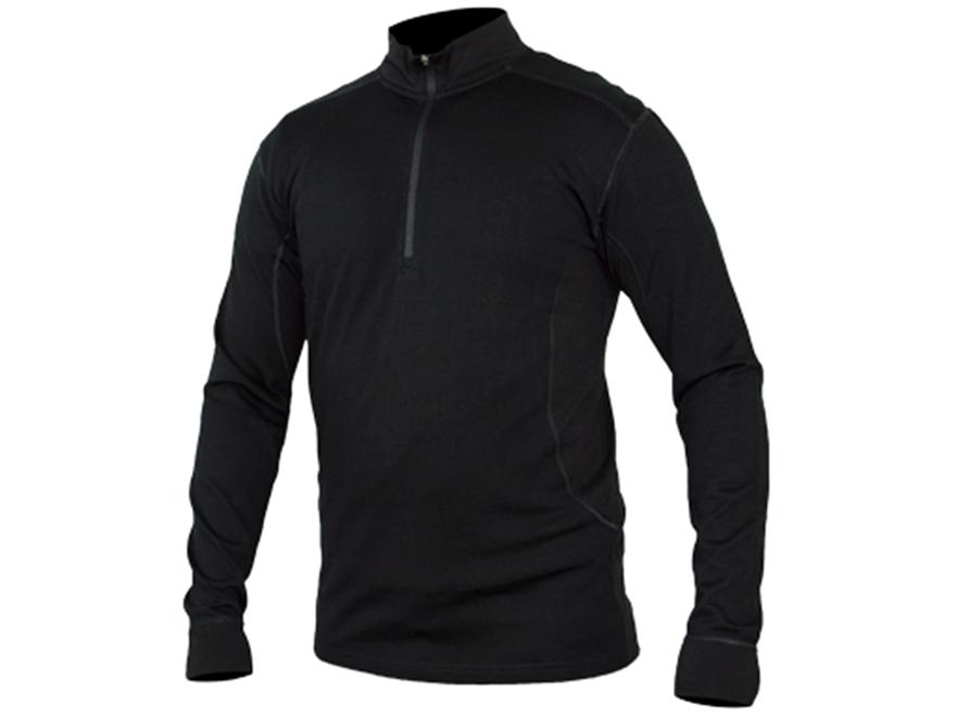 Core4element men 39 s merino 2590 1 4 zip shirt long sleeve for Merino wool shirt long sleeve