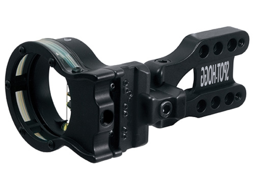 "Spot-Hogg Wrapped Right On 5-Pin Bow Sight .029"" Pin Diameter Large Guard Left Hand Aluminum Black"