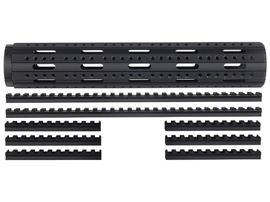 Advanced Technology Free Float Handguard 8-Rail AR-15 Rifle Length with Combo Rail Package Aluminum Black
