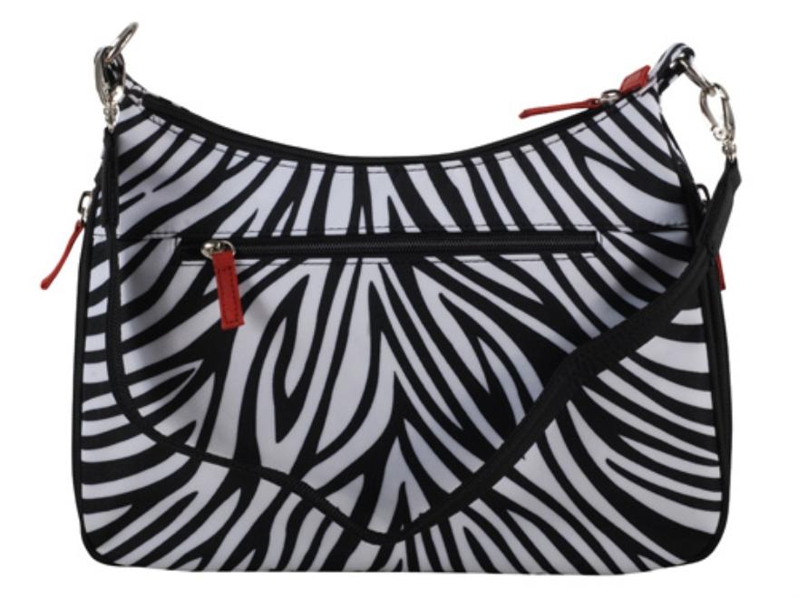 Gun Tote'N Mamas Basic Hobo Handbag Leather Zebra-Striped