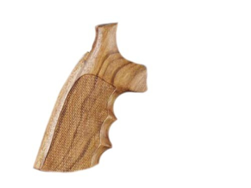 Hogue Fancy Hardwood Grips with Finger Grooves Ruger Security Six Checkered