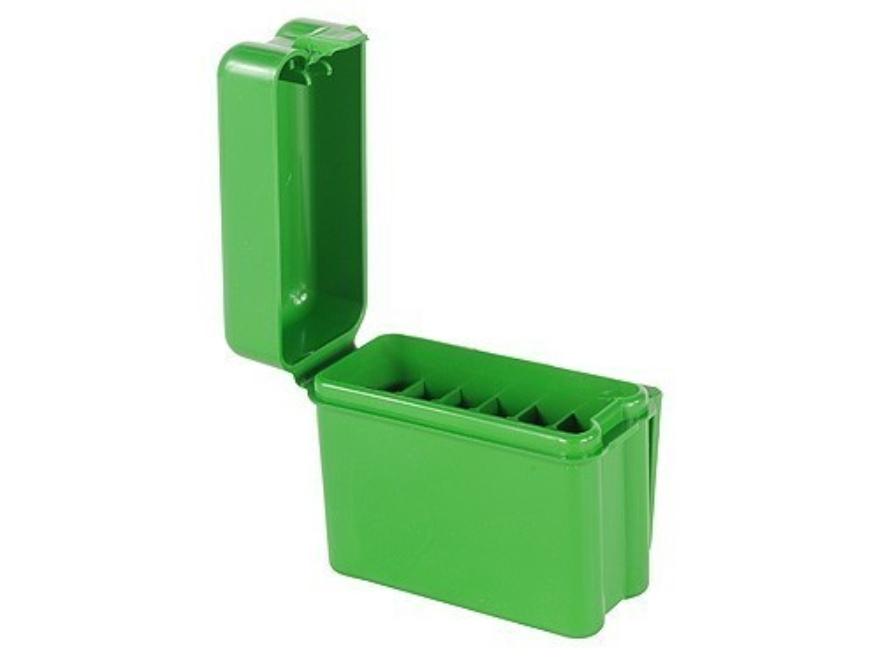 MTM Flip-Top Belt-Style Ammo Box 17 Remington, 204 Ruger, 223 Remington 20-Round Plastic Green
