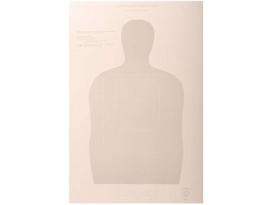 NRA Official Training and Qualification Targets Law Enforcement TQ-16 50-Foot Paper Pack of 100
