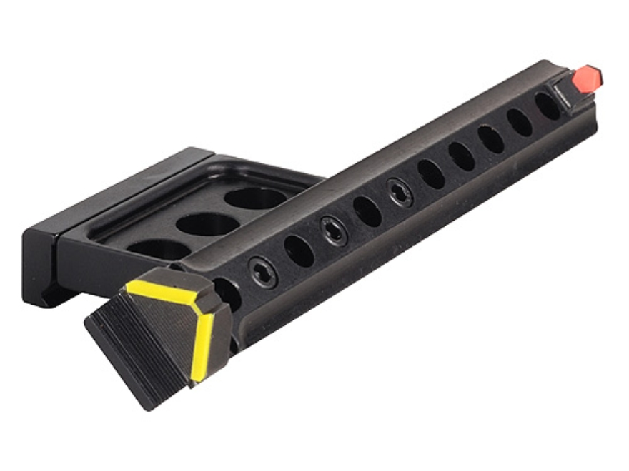 Advantage Tactical Guardian AR-15 45-Degree Offset Triangular Sight Set Picatinny Rail Mount Steel with Interchangeable Front & Rear Colored Inserts