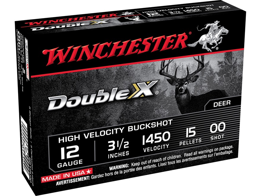 "Winchester Double X Magnum Ammunition 12 Gauge 3-1/2"" Buffered 00 Copper Plated Bucksho..."