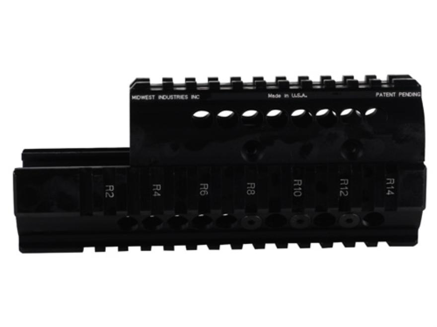 Midwest Industries 2-Piece Handguard Quad Rail Saiga AK-47 Aluminum Black