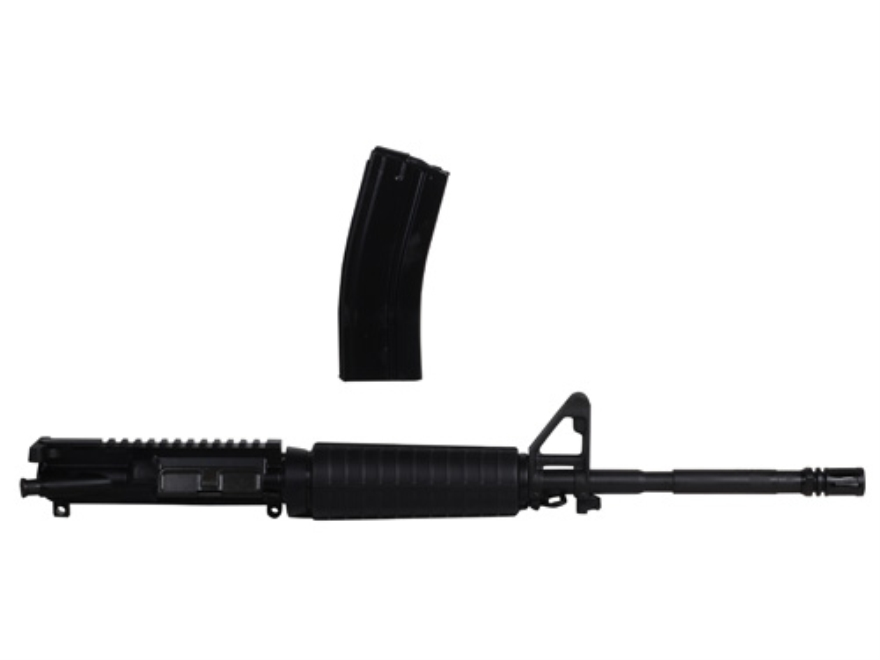 "Smith & Wesson AR-15 A3 Flat-Top Upper Assembly 5.45x39mm 1 in 8"" Twist 16"" Barrel Chrome Lined Chrome Moly Matte, A2 Front Sight, Flash Hider, with 30-Round Magazine"