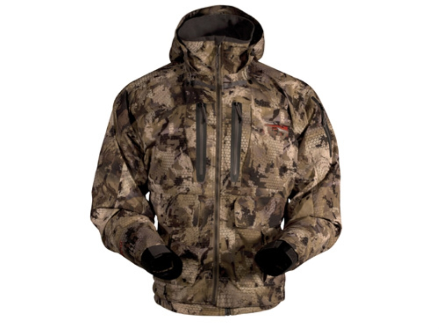 Sitka Gear Men's Delta Wading Waterproof Jacket Polyester Gore Optifade Waterfowl Camo Large 42-45