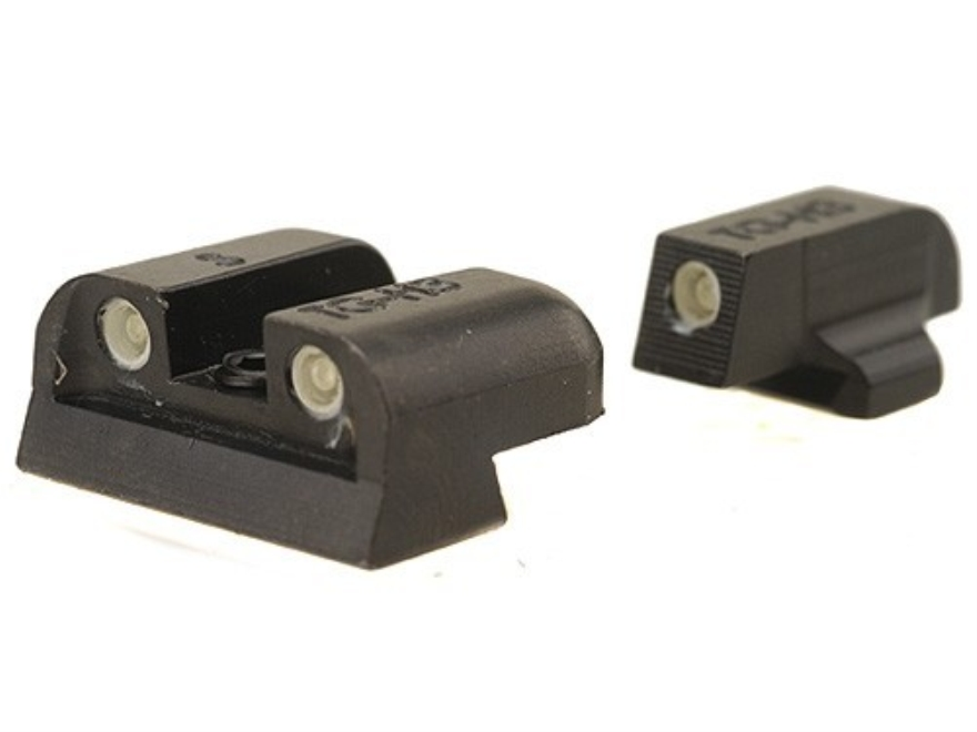 TRUGLO Brite-Site Tritium Sight Set Sig Sauer #6 Front #8 Rear Steel Tritium Green