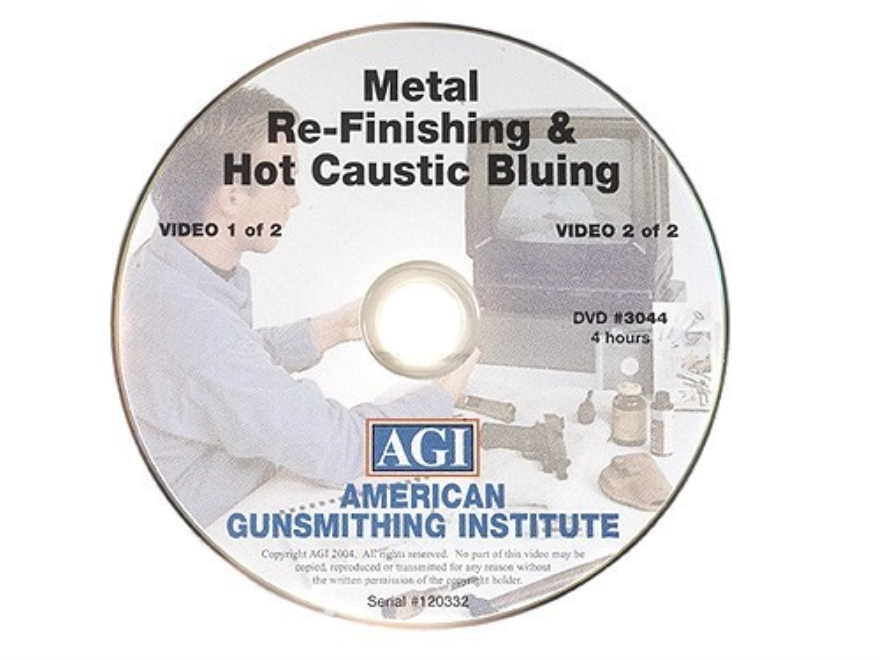 "American Gunsmithing Institute (AGI) Video ""Professional Metal Re-Finishing and Hot Cau..."