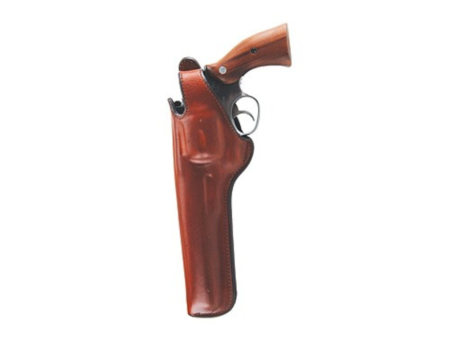 """Bianchi 5BHL Thumbsnap Holster Dan Wesson 44 Magnum, Ruger Redhawk 7.5"""" Barrel Suede Lined Leather Tan"""