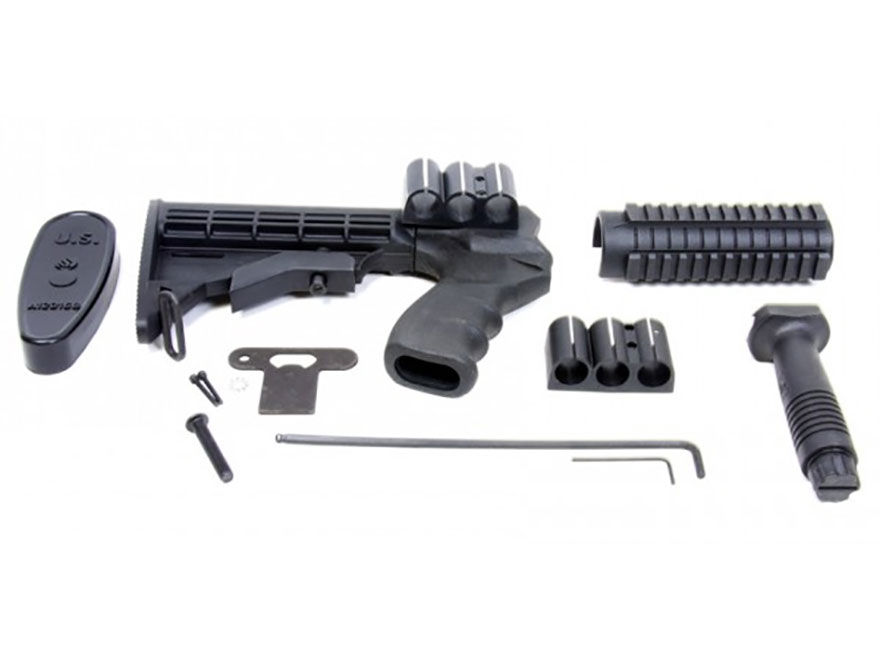 ProMag 6-Position Collapsible Buttstock Set with Pistol Grip, Tri-Rail Forend & Vertica...