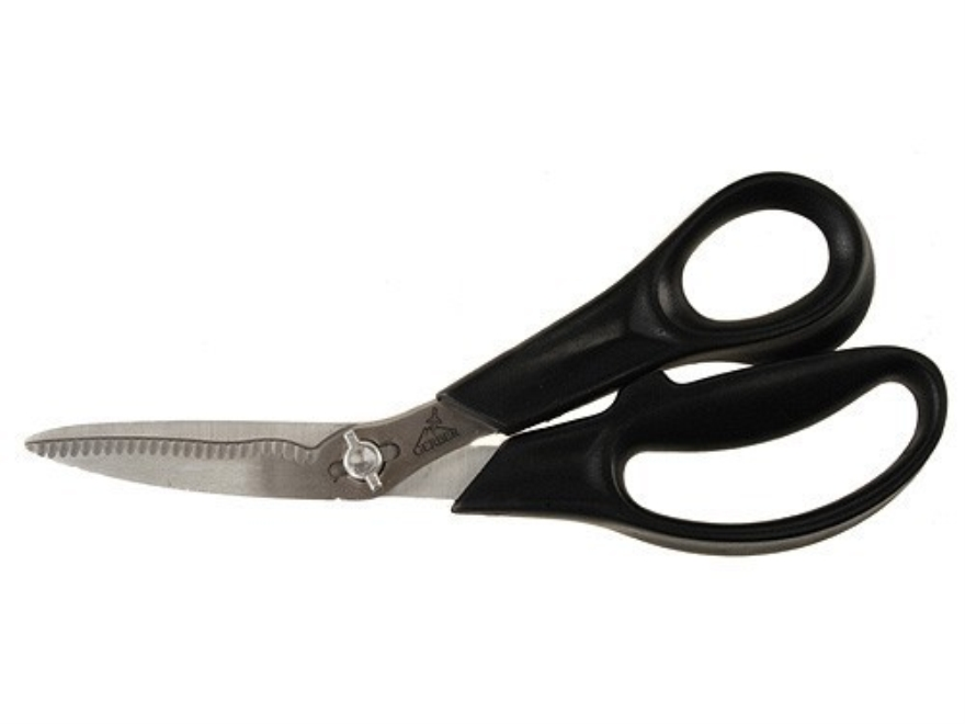 "Gerber Take-A-Part Game Shears 2.125"" Stainless Steel Blade 8"" Overall Length Polymer Handle Black with Nylon Sheath"