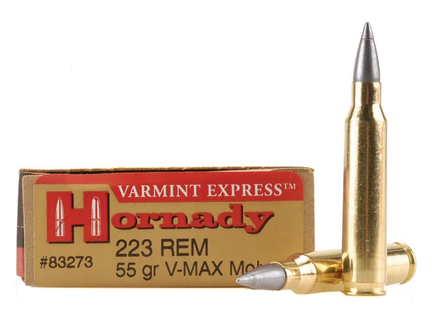 Hornady Varmint Express Ammunition 223 Remington 55 Grain V-Max Moly Box of 20