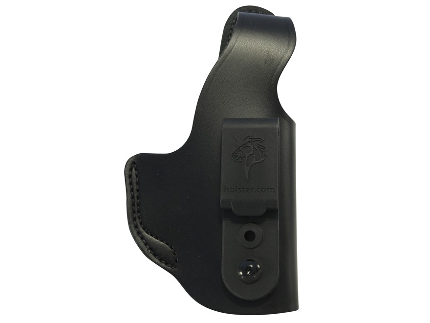 DeSantis Dual Carry II Inside/Outside the Waistband Holster Right Hand S&W M&P Compact 9mm, 40 S&W Leather Black