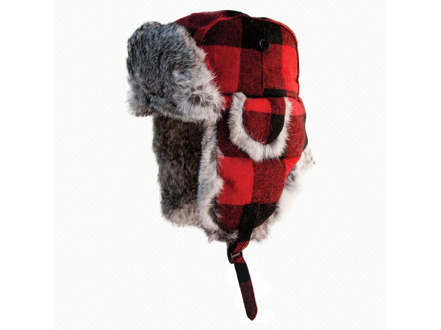 Yukon Tracks Original Alaskan Fur Bomber Hat Nylon