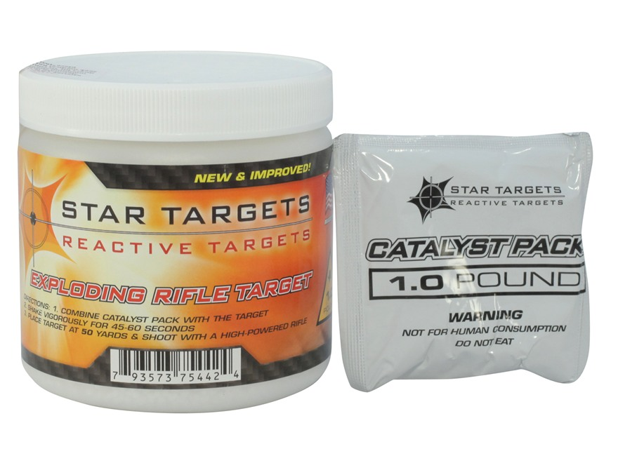 Star Targets Exploding Rifle Target Plastic Canister 1 lb.