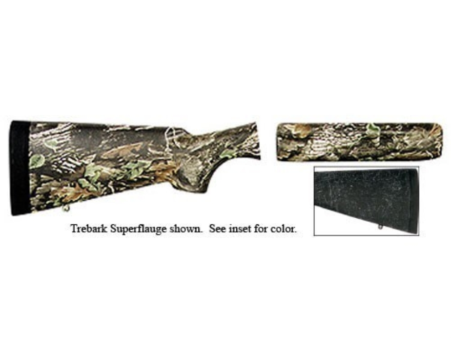 "Bell and Carlson Carbelite Classic Stock and Forend Browning A-5 12 Gauge 2-3/4"" Black with Gray Spiderweb"
